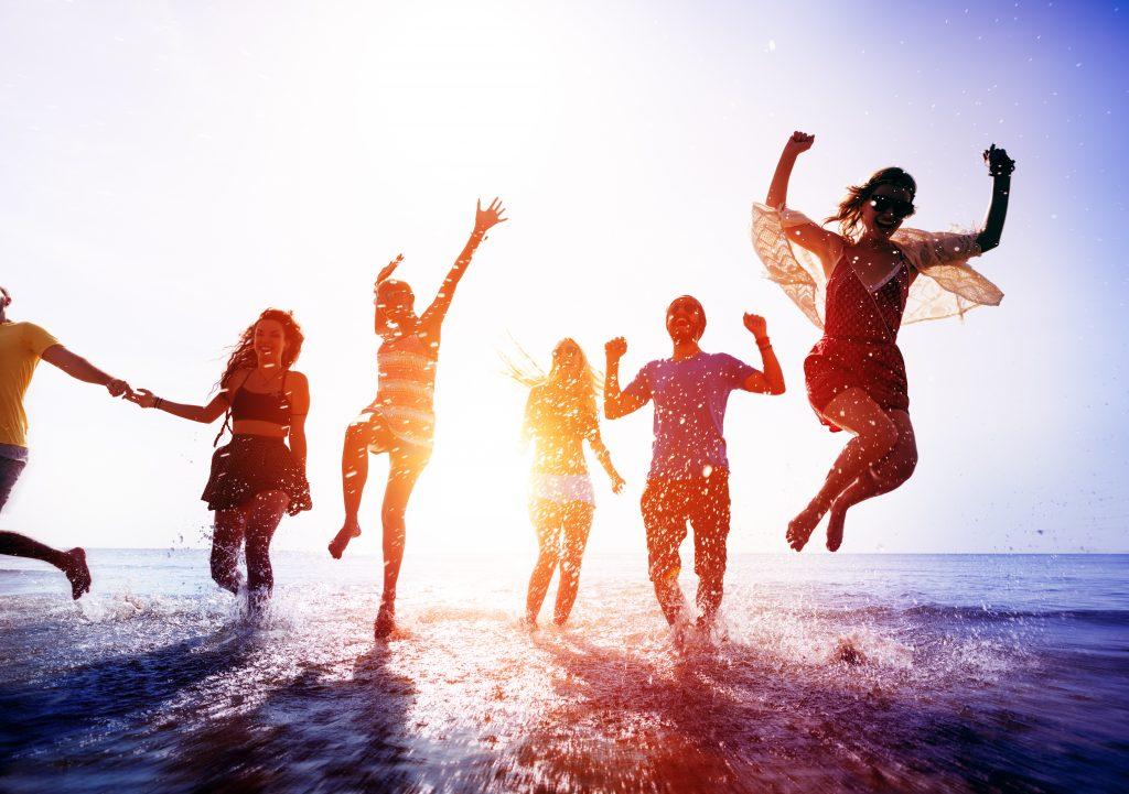 Energia z cukru u młodzieży o zachodzie słońca