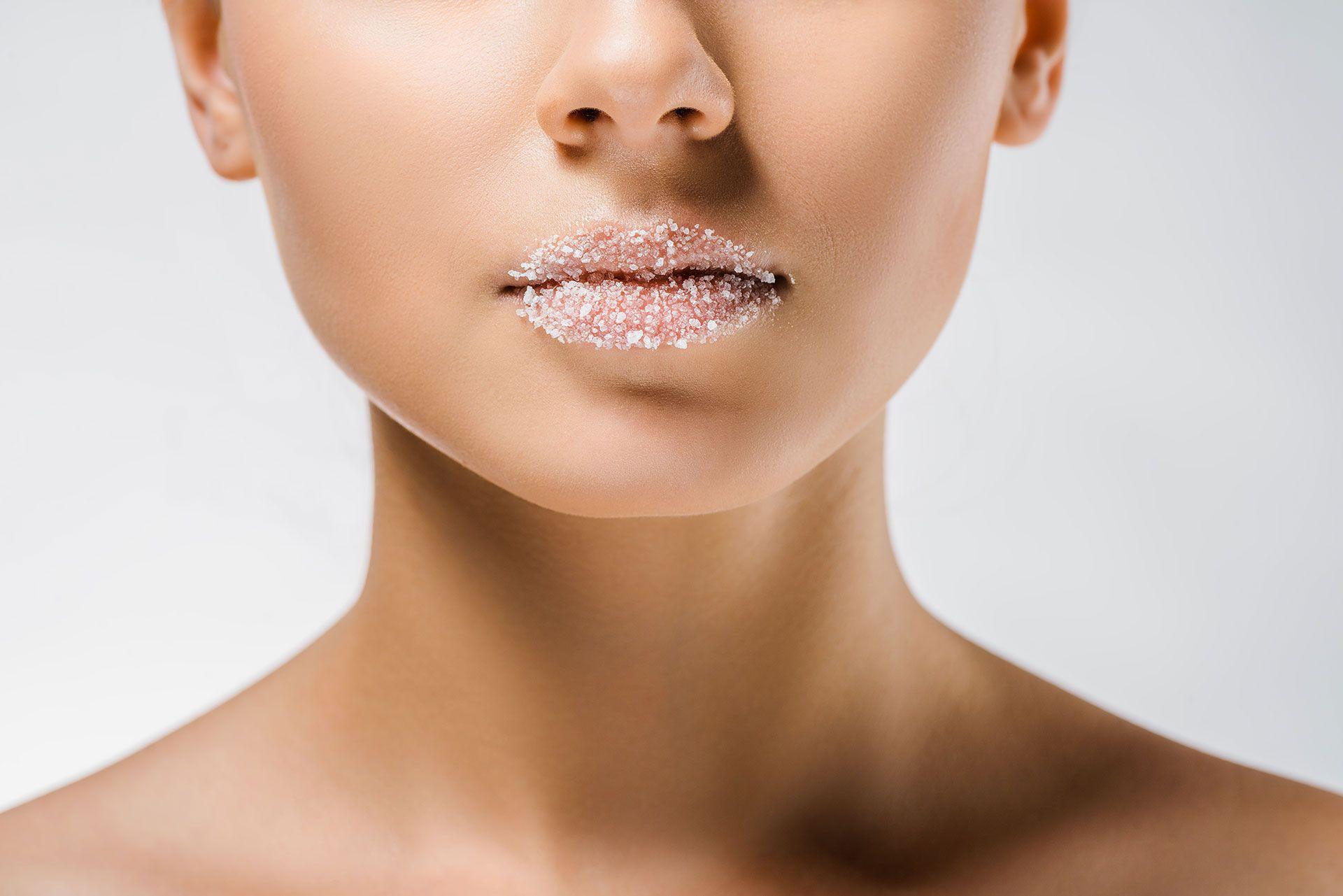 Peeling z cukru na usta