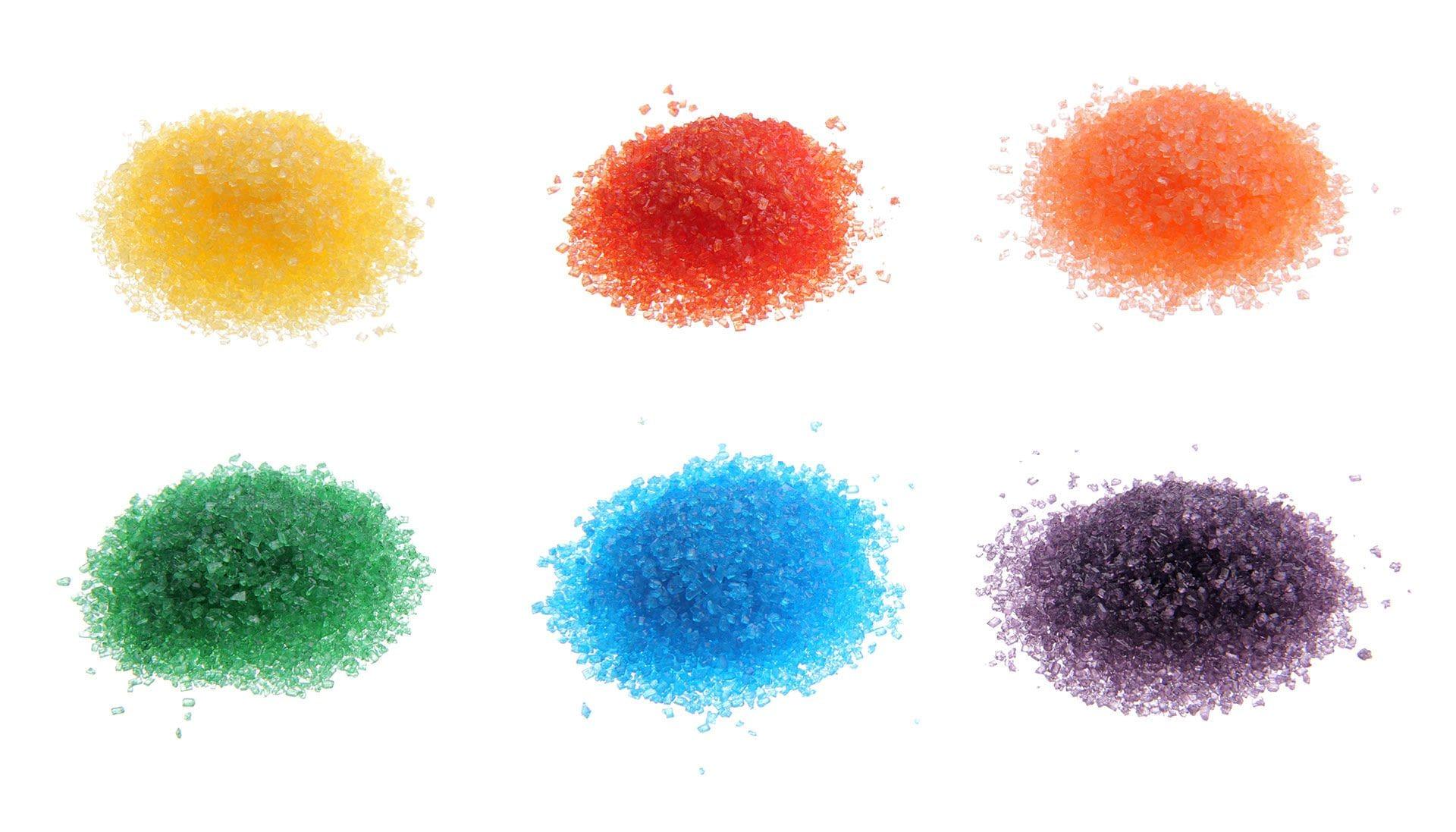 Kolorowy cukier puder